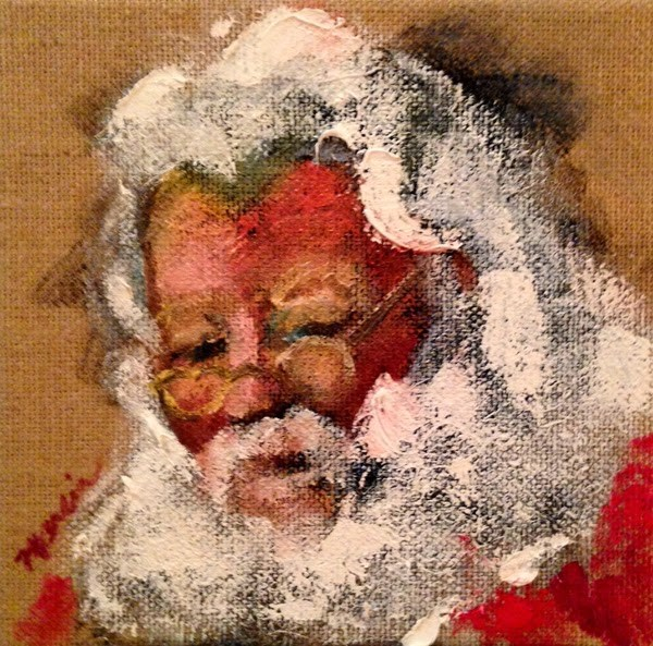 """SANTA!"" original fine art by Marcia Hodges"