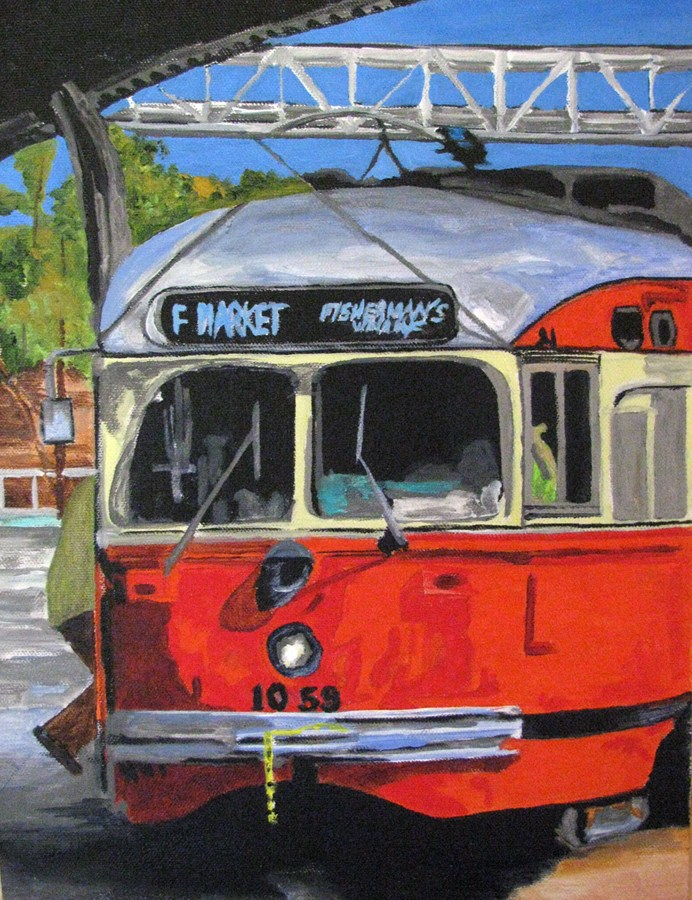 """Streetcar #1059"" original fine art by Nan Johnson"