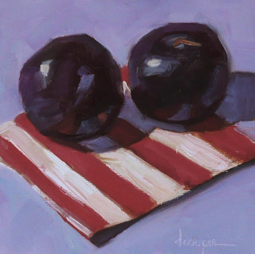 """Plum Appeal"" original fine art by Dana Cooper"