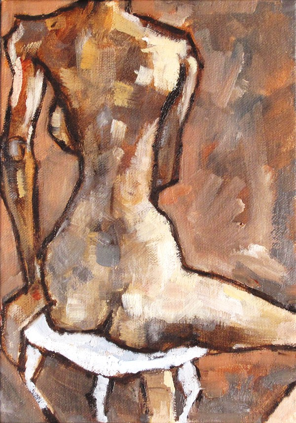 """Female Nude"" original fine art by Kevin Inman"