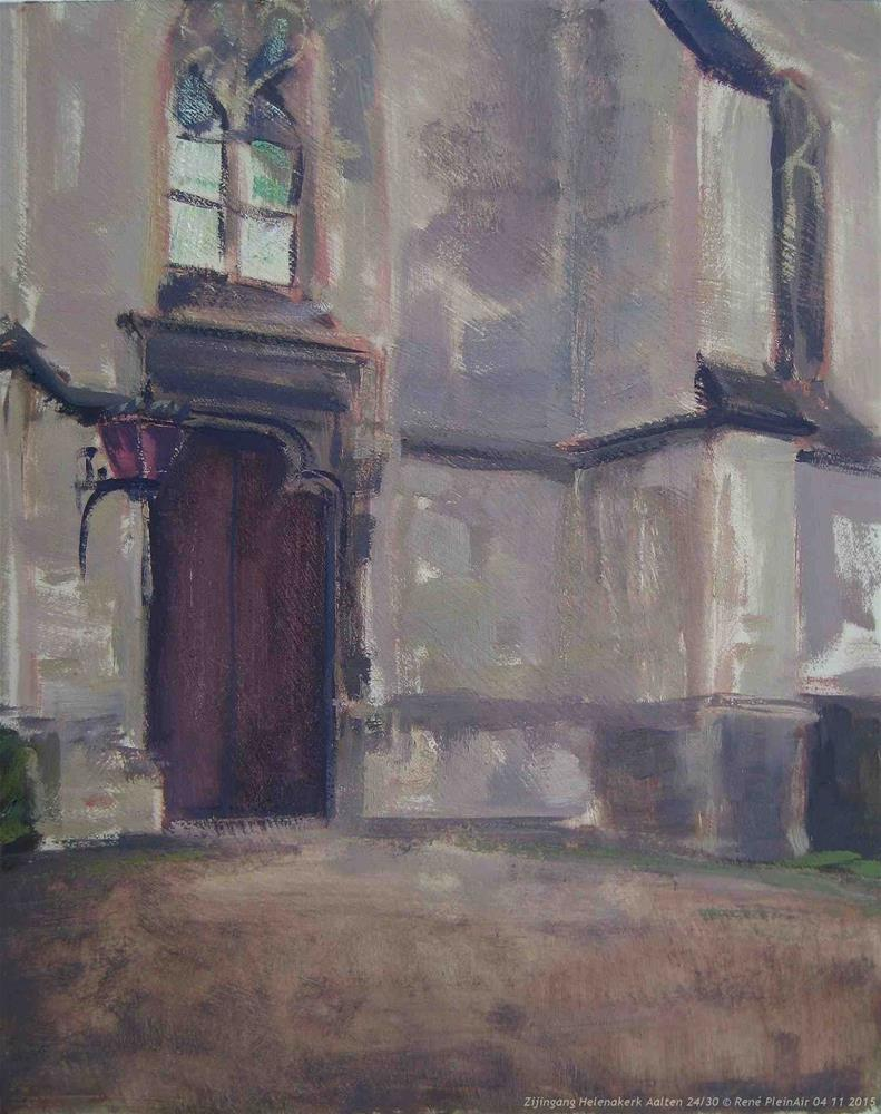 """Protestante kerk Helena.  Aalten, The Netherlands"" original fine art by René PleinAir"