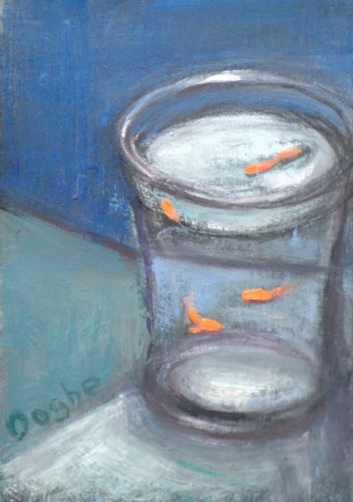 """Refracted Goldfish"" original fine art by Angela Ooghe"