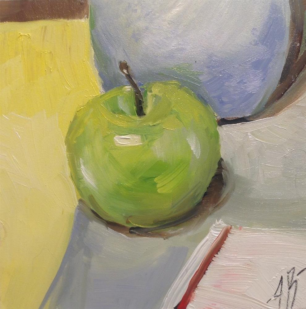 """Green Apple"" original fine art by Annette Balesteri"