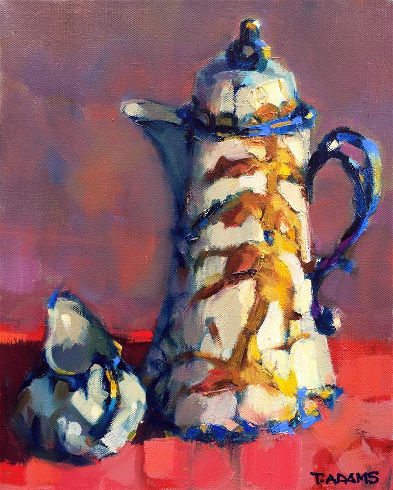 """Coffee and Cream"" original fine art by Trisha Adams"