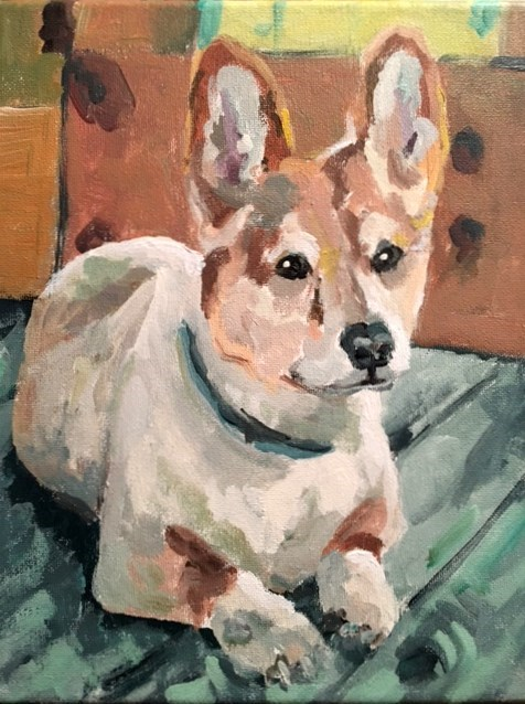 """Teddie"" original fine art by Susan Elizabeth Jones"