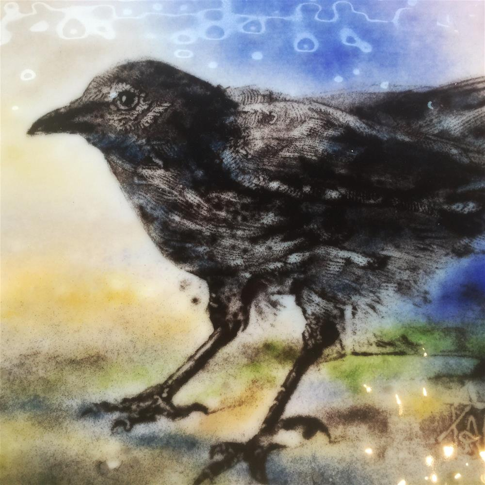 """Corvus Crow"" original fine art by Kelly Alge"