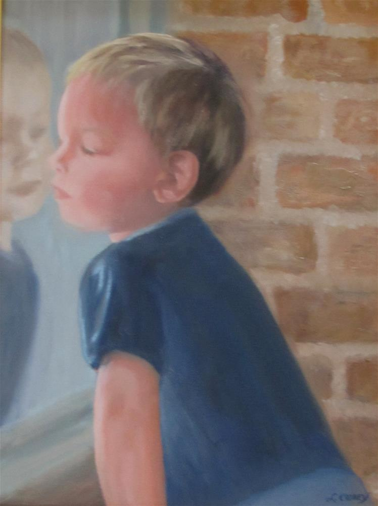 """""""It's a Big World Out There"""" original fine art by Linda Carney"""