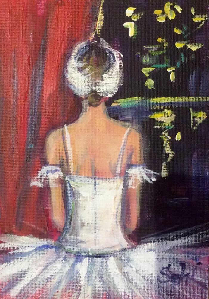 """""""Before performance"""" original fine art by Sonia von Walter"""