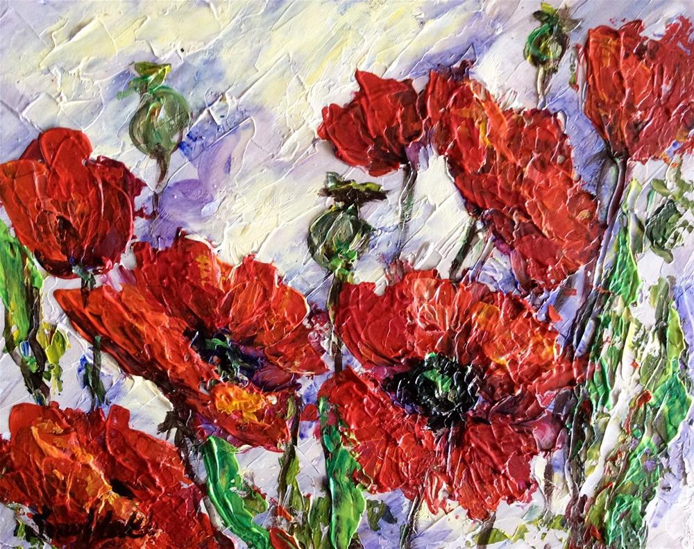 """""""Scarlet Poppies"""" original fine art by Sonia von Walter"""