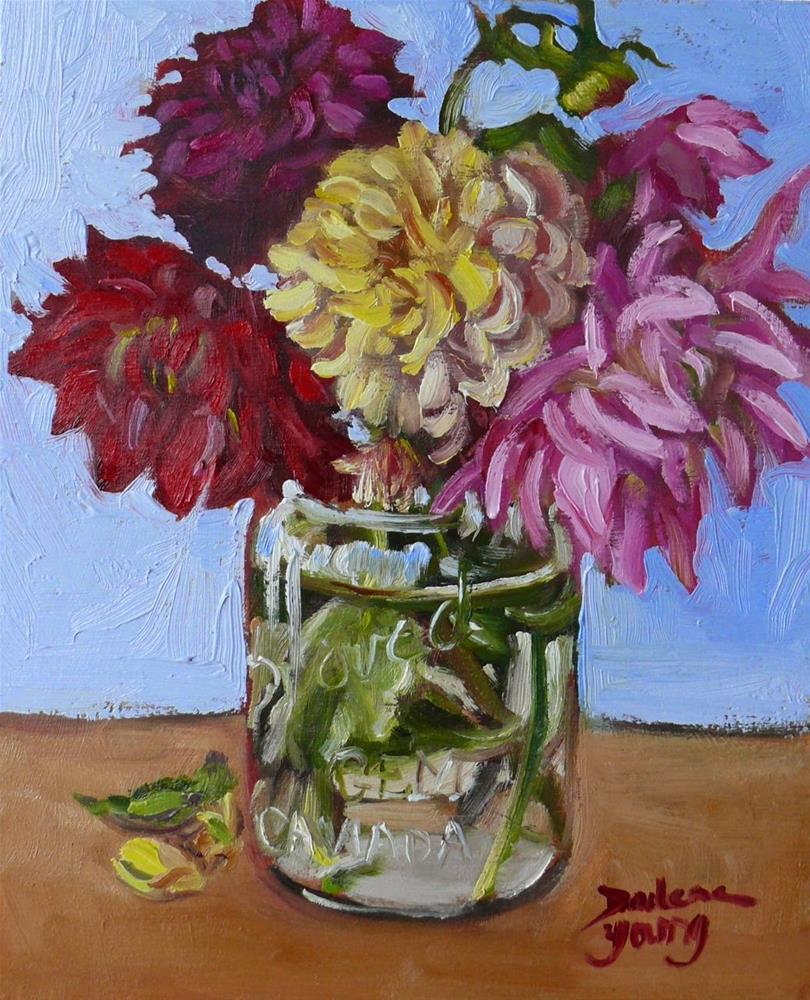 """774 Flowers for Thanksgiving"" original fine art by Darlene Young"