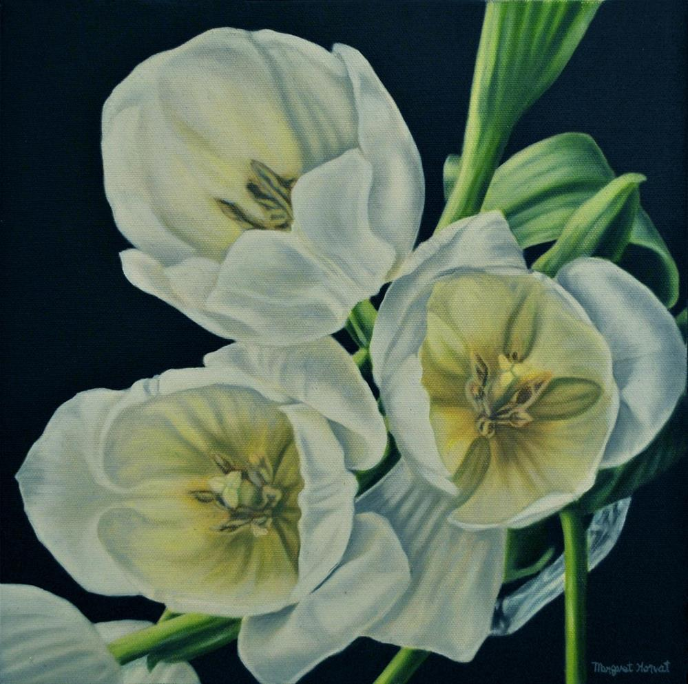 """Tulips from Above"" original fine art by Margaret Horvat"
