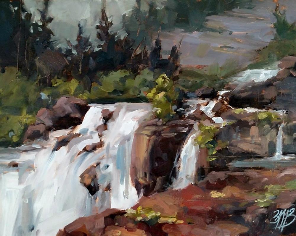 """Glacier Falls"" original fine art by Brienne M Brown"