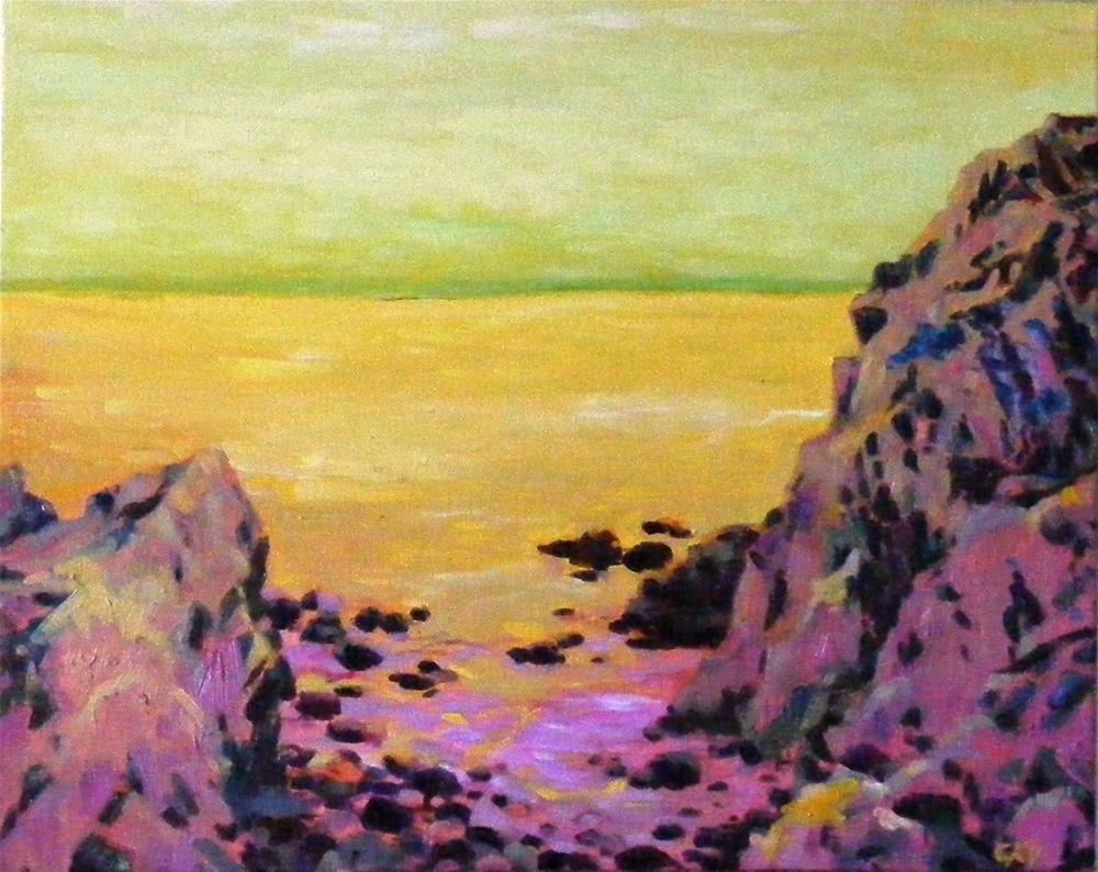 """Ocean dreaming"" original fine art by Celine K.  Yong"