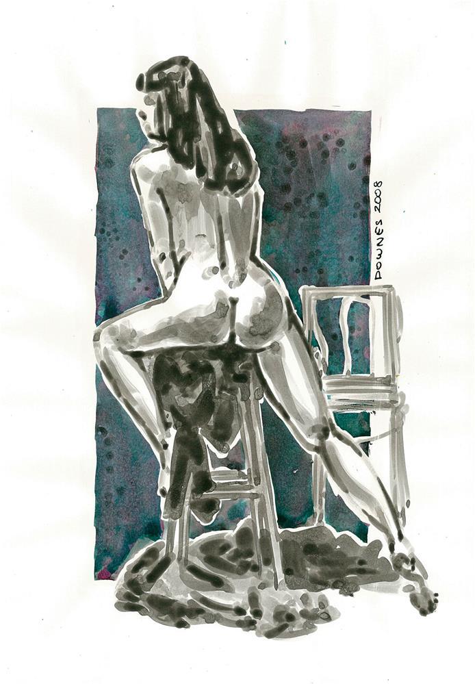 """""""221 ORIGINAL LIFE SKETCH 6"""" original fine art by Trevor Downes"""