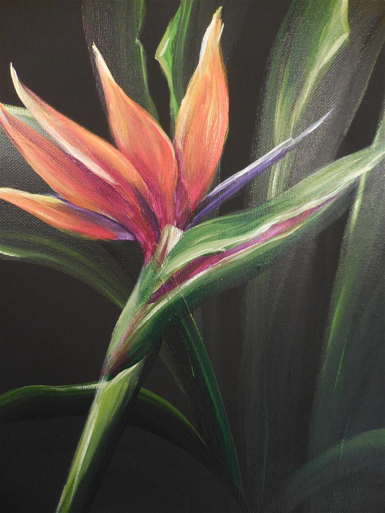 """Bird of Paradise #2"" original fine art by Terri Nicholson"