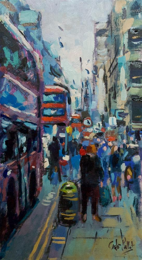"""London Buses"" original fine art by Andre Pallat"