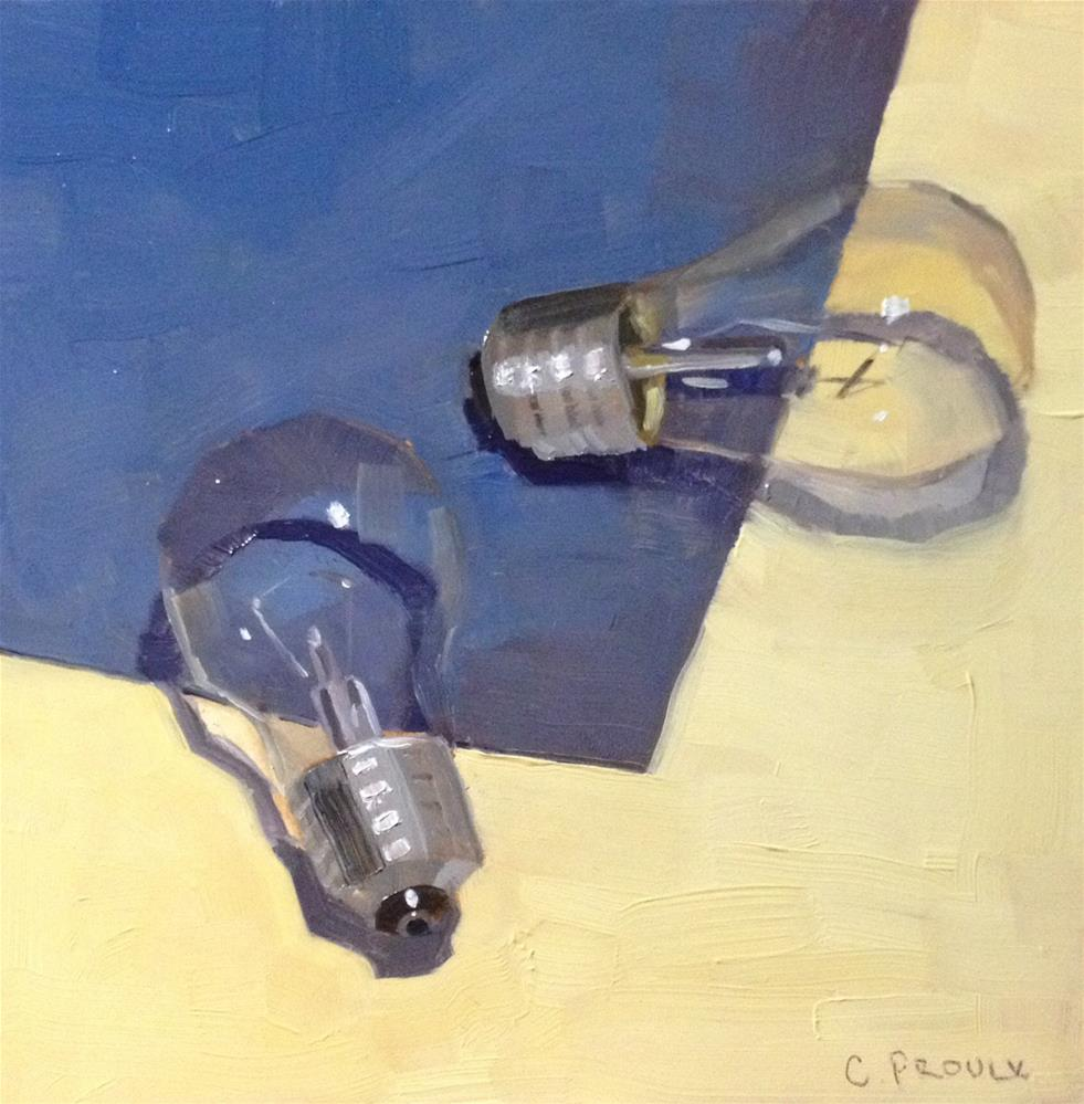 """Two Bulbs"" original fine art by Cory Proulx"