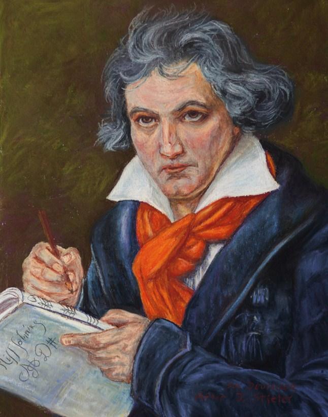 """""""Beethoven - After Stieler"""" original fine art by Sue Deutscher"""
