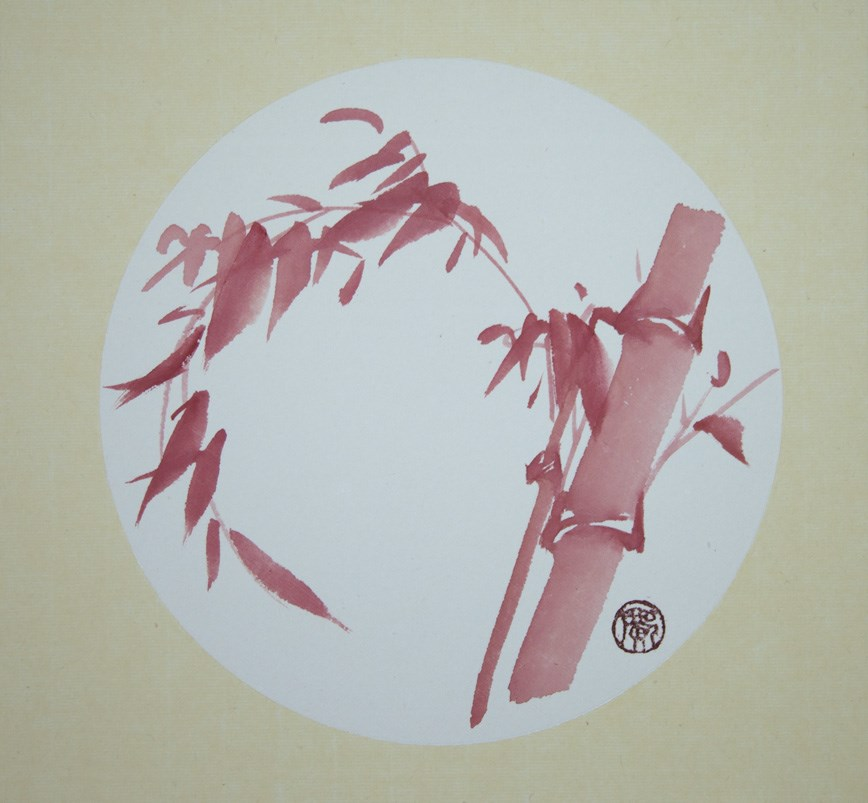 """Red Bamboo"" original fine art by R kwong"
