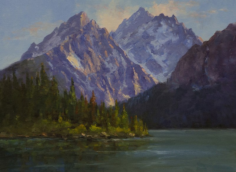 """Grand Tetons"" original fine art by Bonnie Bowne"