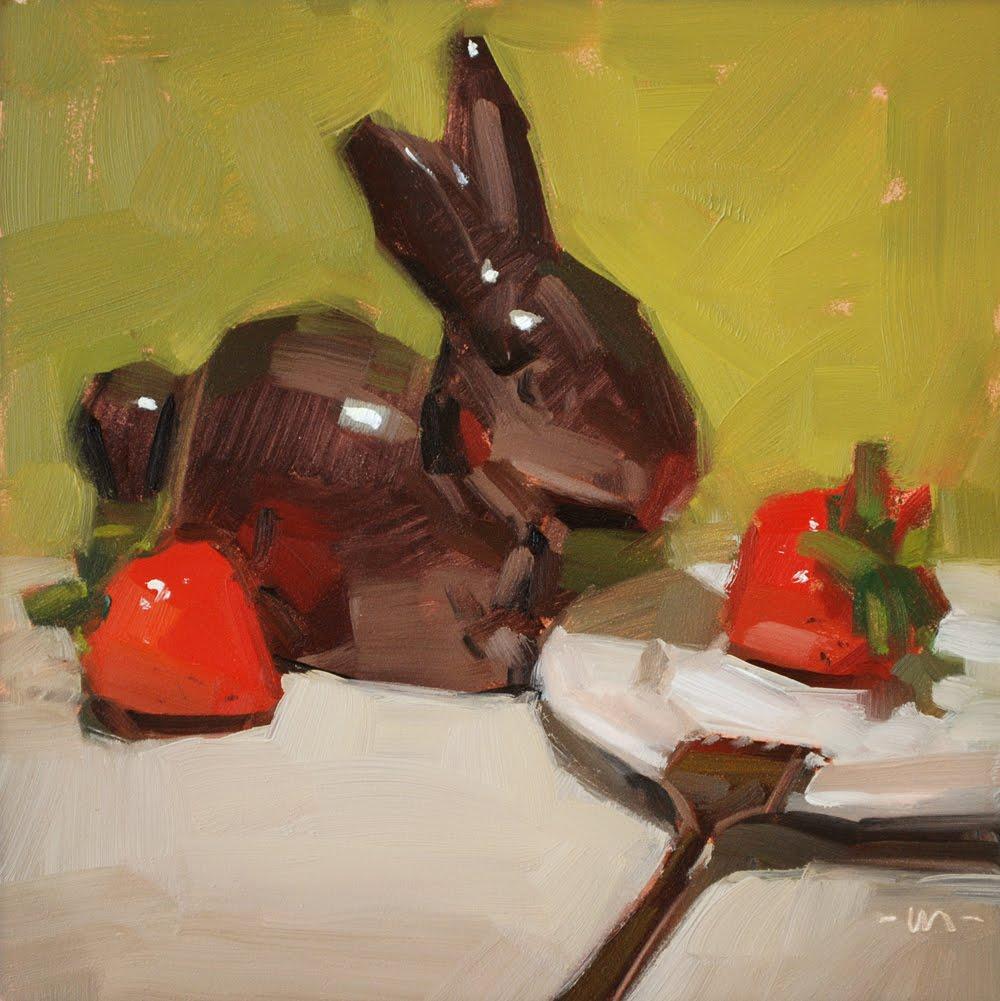 """""""Tom und Erdbeeren"""" original fine art by Carol Marine"""