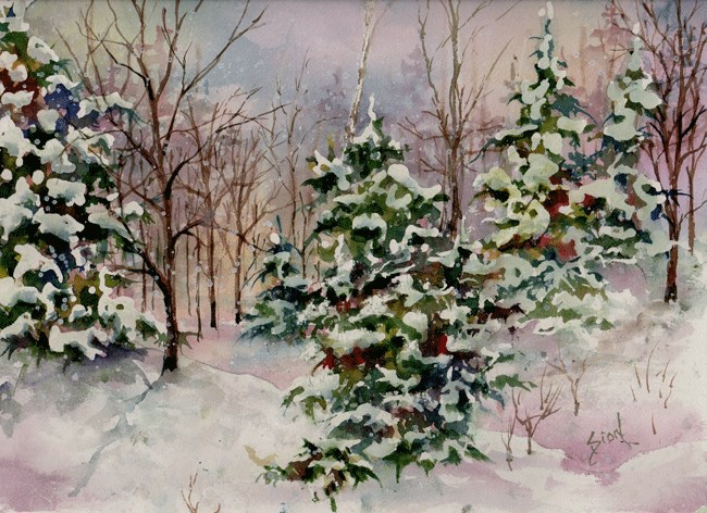 """Wild and Wooley Woodland"" original fine art by Sue Dion"