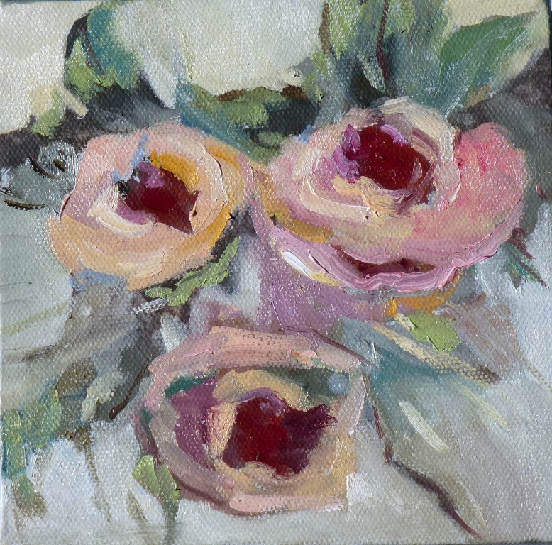 """Three Roses 14033"" original fine art by Nancy Standlee"