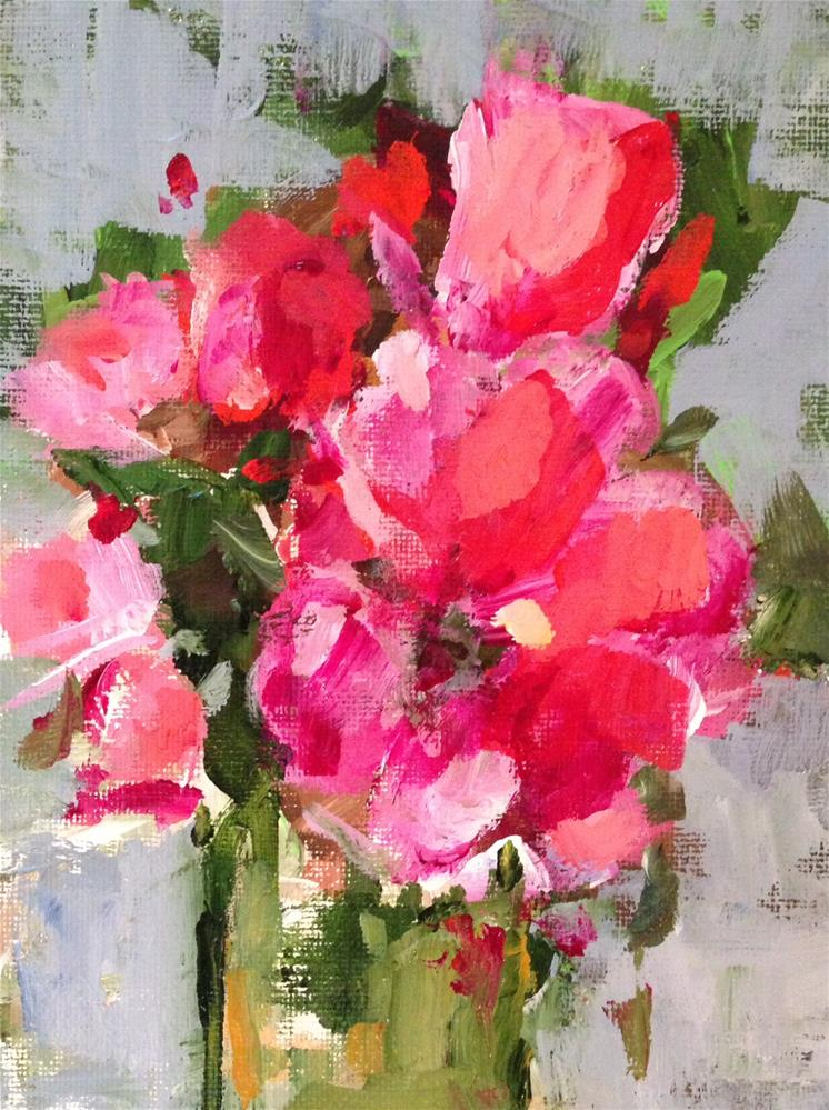 """""""Pink Passion"""" original fine art by Molly Wright"""