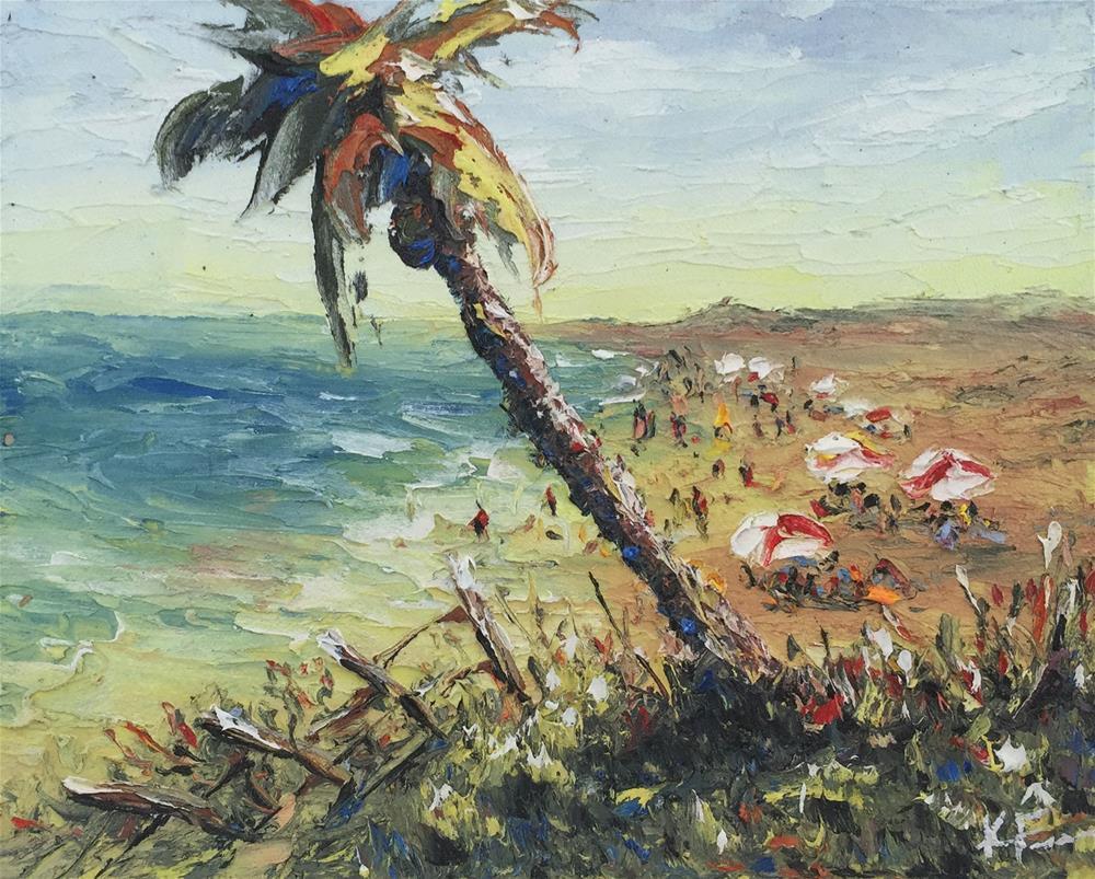 """Beach View"" original fine art by Ken Fraser"