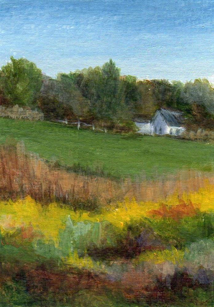"""""""Down a Country Road"""" original fine art by Debbie Shirley"""