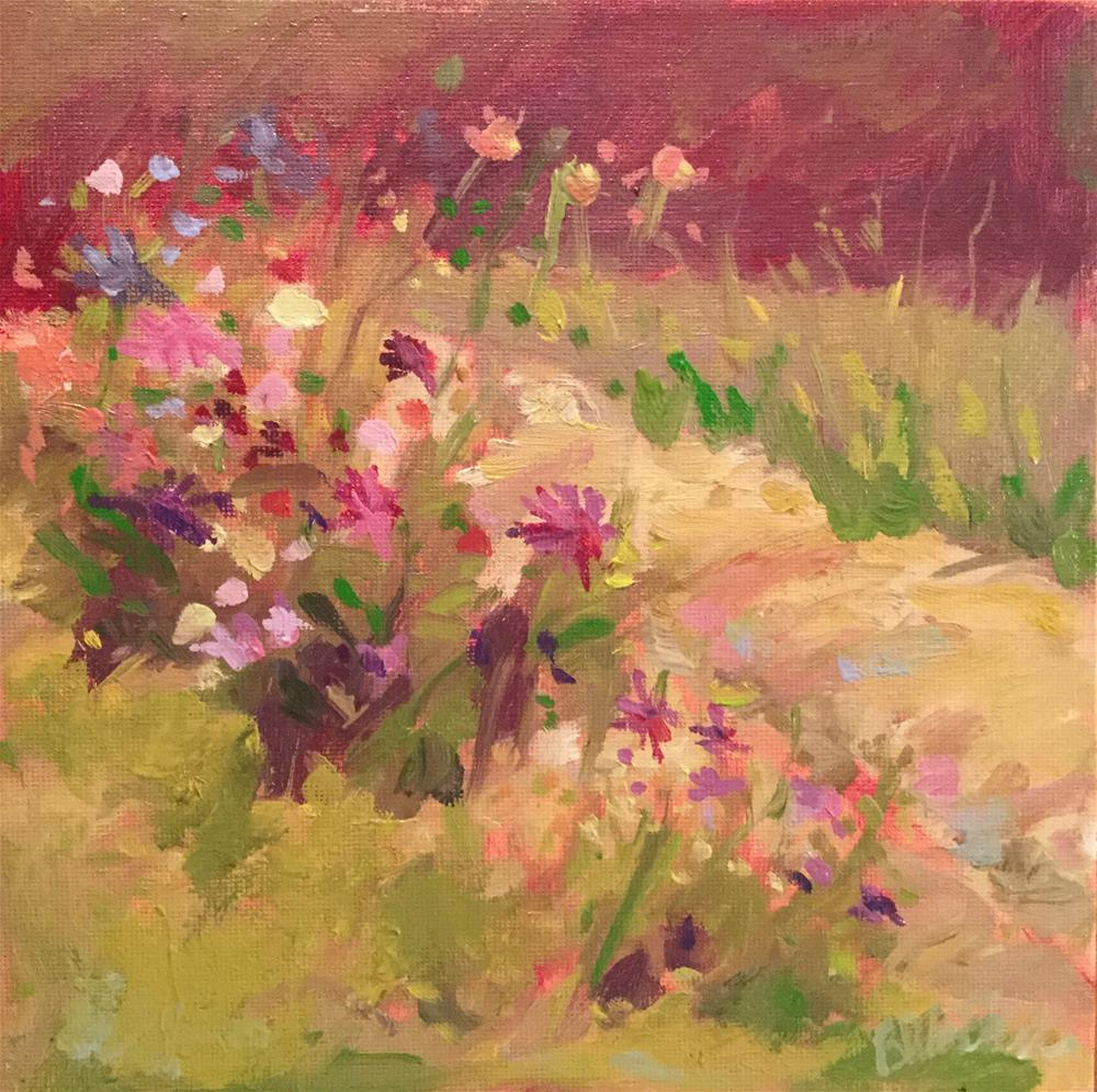 """Garden Dance"" original fine art by Barb Walker"
