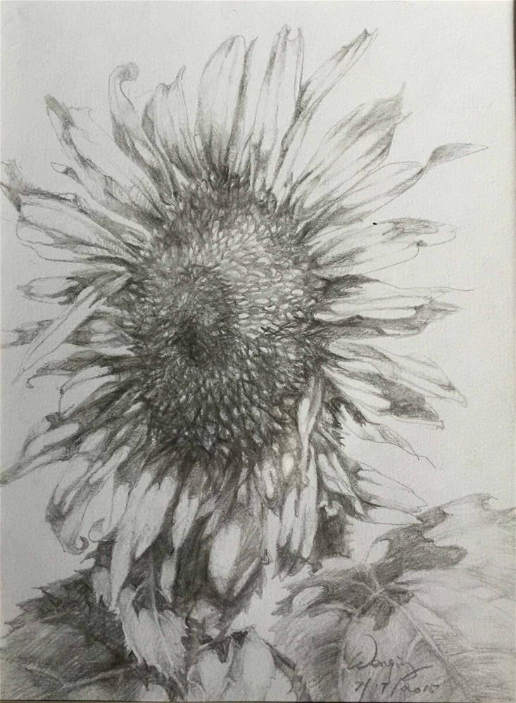 """sunflower"" original fine art by Wenqing Xu"