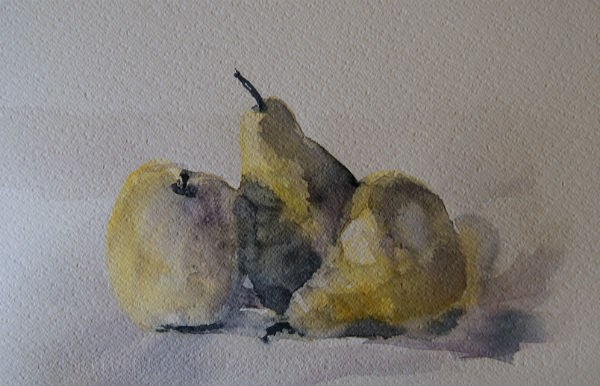 """Two Pears and an Apple"" original fine art by Amy Bryce"