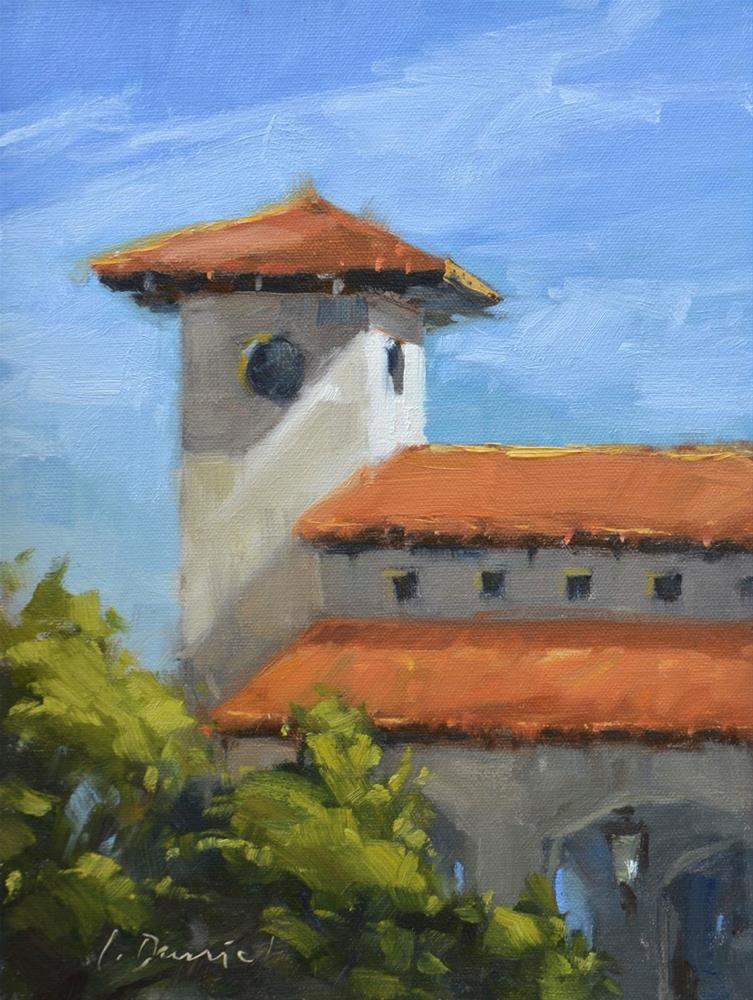 """Hill Country Bell Tower"" original fine art by Laurel Daniel"