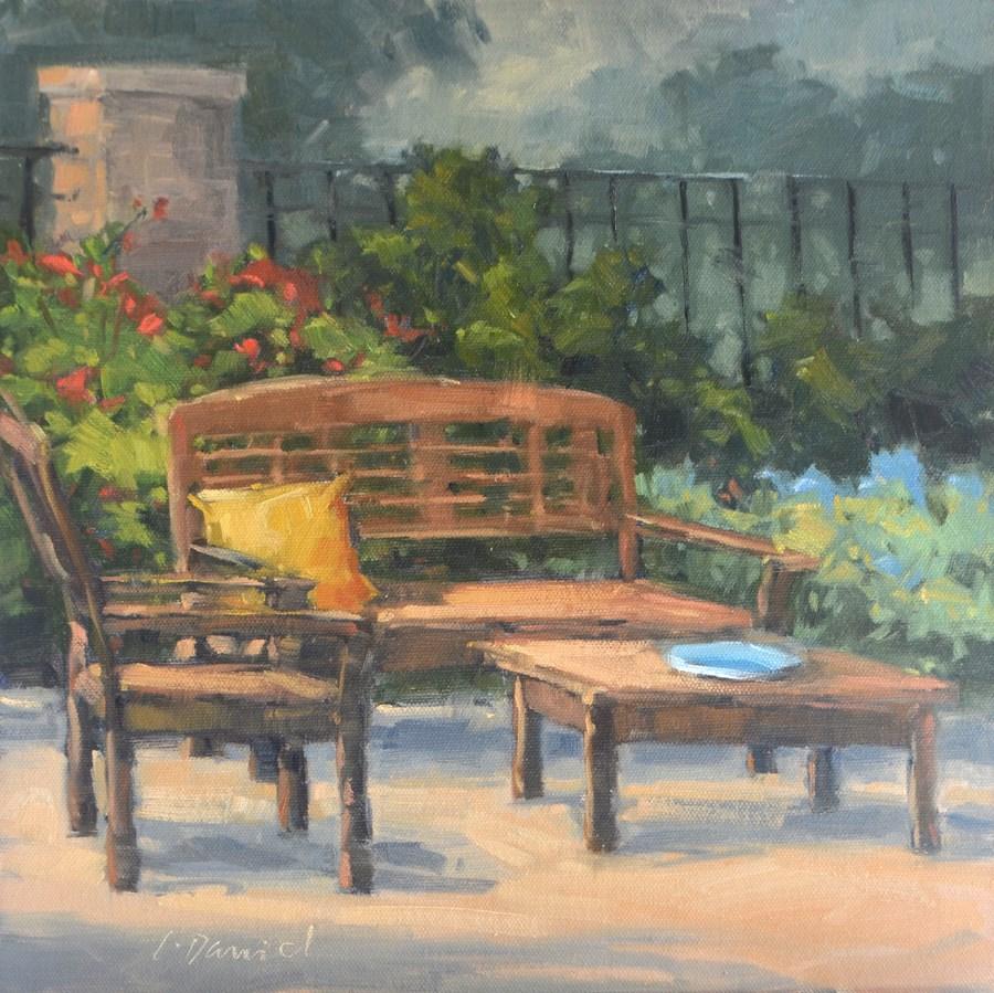 """""""Quiet Place - And news about En Plein Air Texas!"""" original fine art by Laurel Daniel"""