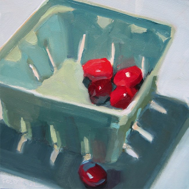 """Blue Carton"" original fine art by Robin Rosenthal"
