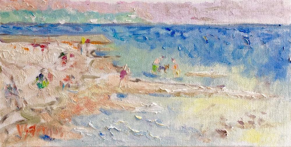 """On the Sandbar"" original fine art by Virginia Fergus"