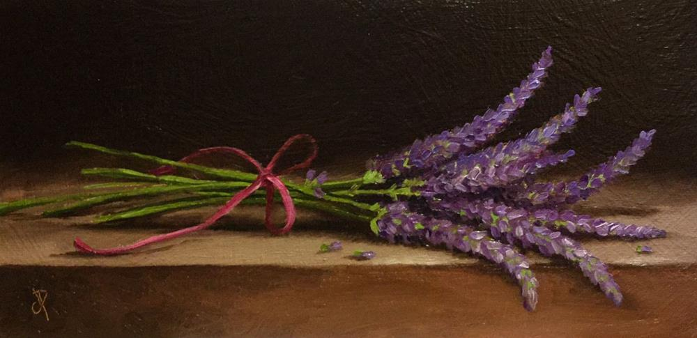 """Bunch of Lavender"" original fine art by Jane Palmer"