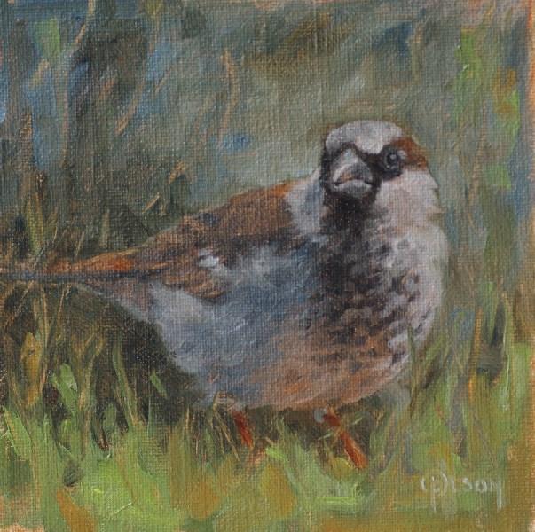 """on alert"" original fine art by Priscilla Olson"