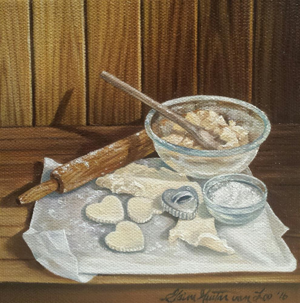 """Grandma's Cookies"" original fine art by Elaine Guitar van Loo"