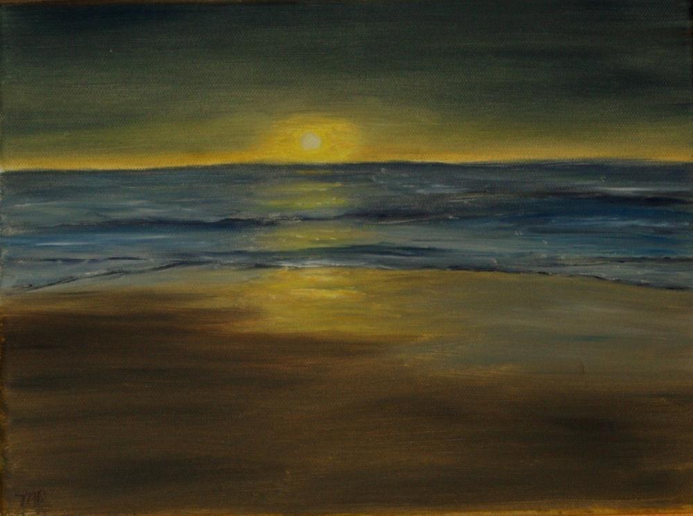 """Sunset on Monterey Bay"" original fine art by Mary Datum"