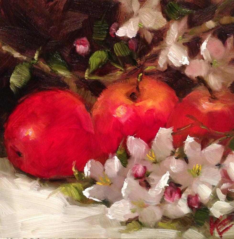 """Apple Blossoms"" original fine art by Krista Eaton"