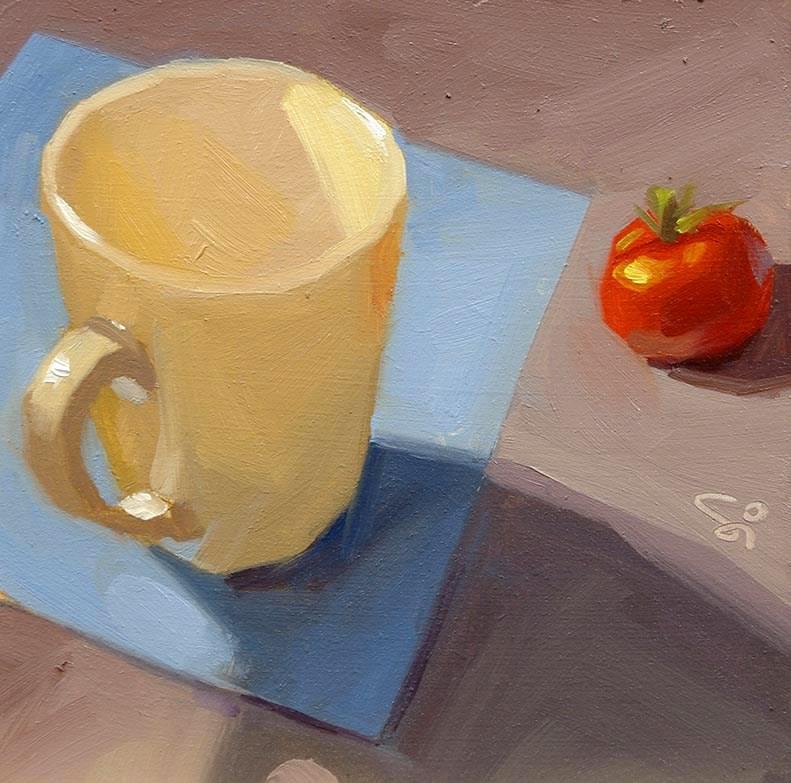 """""""Little tomatoe"""" original fine art by Istvan Schaller"""