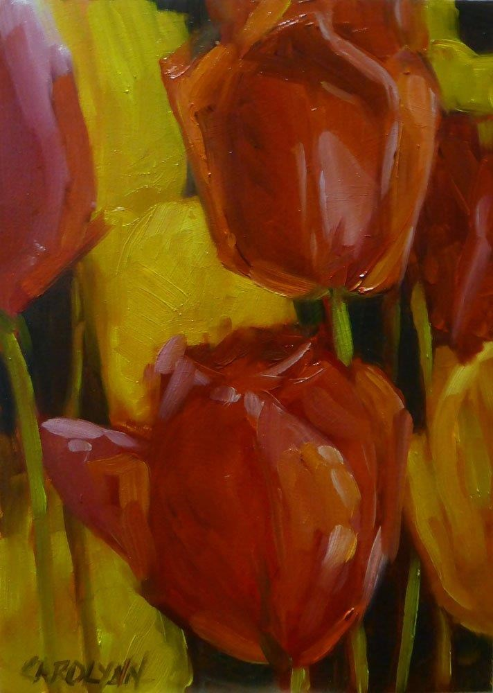 """Love Red!"" original fine art by Carolynn Doan"
