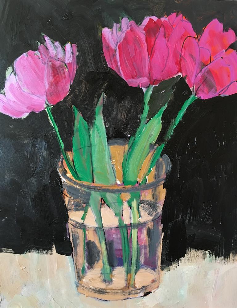 """Floral still life"" original fine art by Christine Parker"