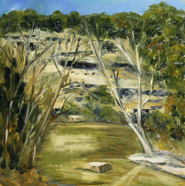 """Bull Creek"" original fine art by Jane Frederick"