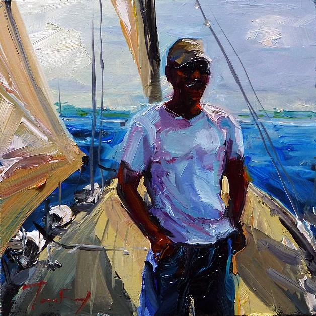 """captain"" original fine art by Jurij Frey"