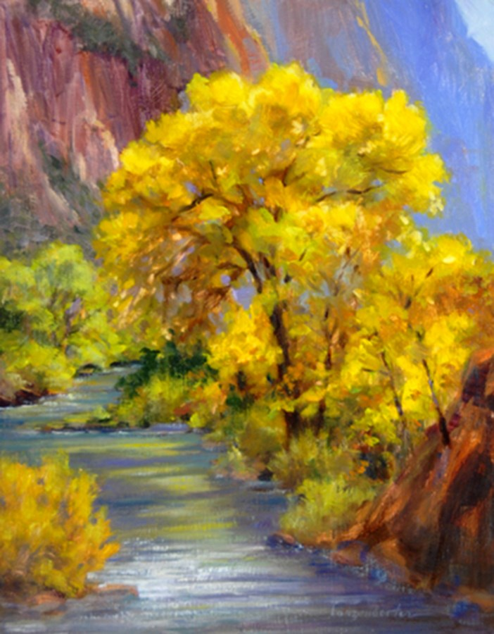 """SUNLIT YELLOW"" original fine art by Dj Lanzendorfer"