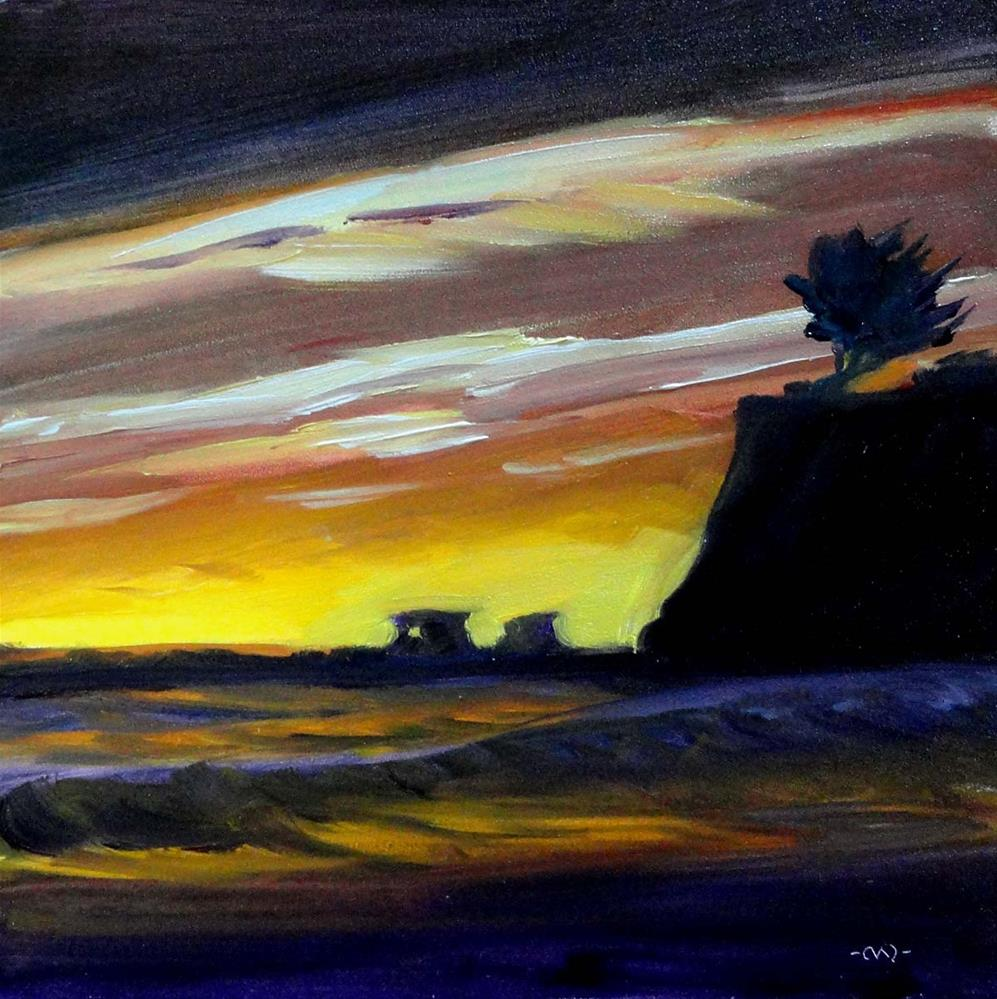 """January Sunset"" original fine art by Cietha Wilson"
