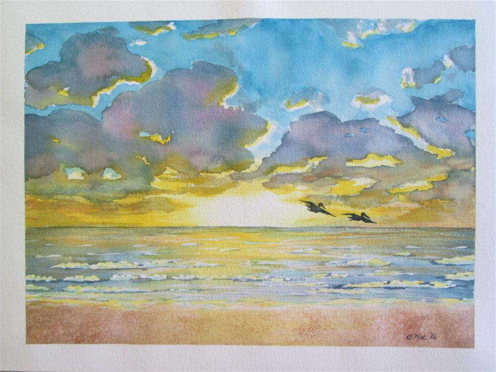 """Tropical Sunset"" original fine art by Chris MacCormack"